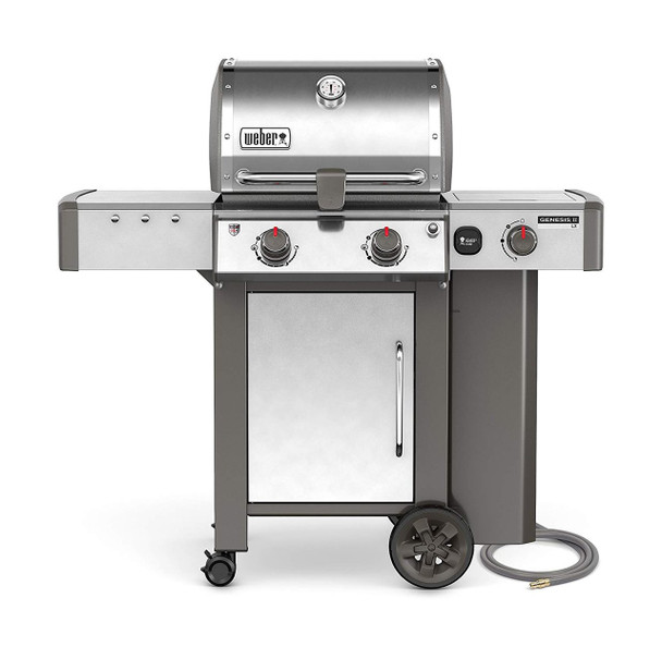 Weber-Stephen Products 65004001 Genesis II LX S-240 Natural Gas Grill, Stainless Steel, Two-Burner