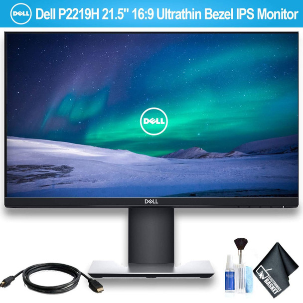 "Dell P2219H 21.5"" 16:9 Ultrathin Bezel IPS Monitor with HDMI Cable"