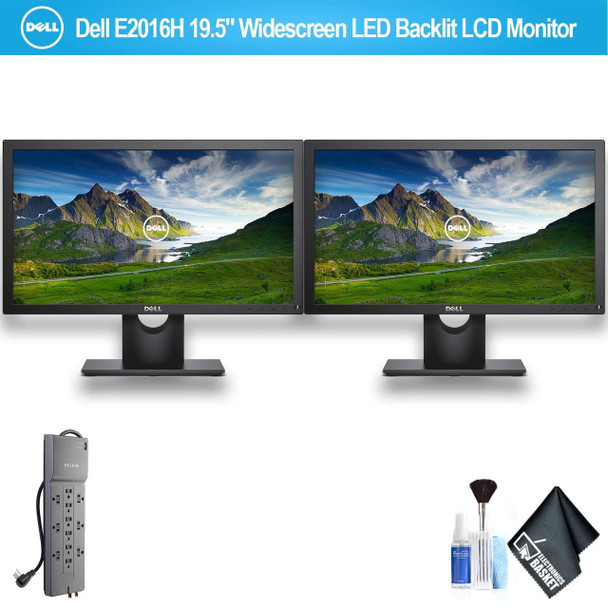 """Dell E2016H 19.5"""" Widescreen LED Backlit LCD Monitor Set with 1 - Belkin PowerStrip"""