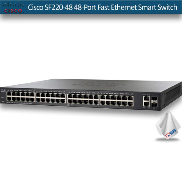 Cisco SF220-48 48-Port Fast Ethernet Smart Switch (SF220-48-K9-NA)