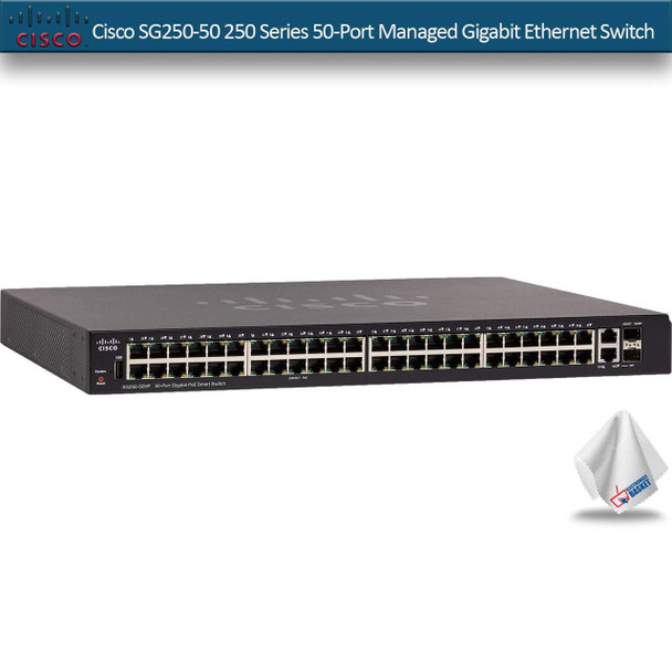 Cisco SG250-50 250 Series 50-Port Managed Gigabit Ethernet Switch (SG250-50P-K9-NA)