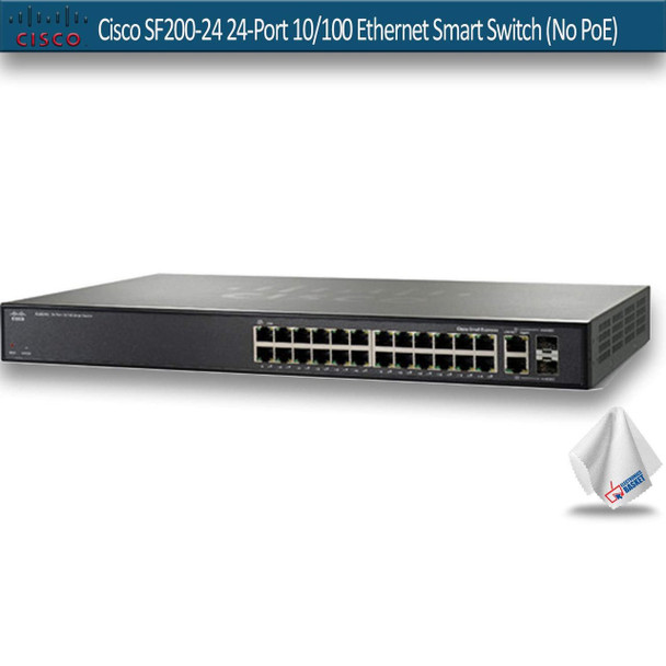 Cisco SF200-24 24-Port 10/100 Ethernet Smart Switch (No PoE) (SLM224GT-NA)
