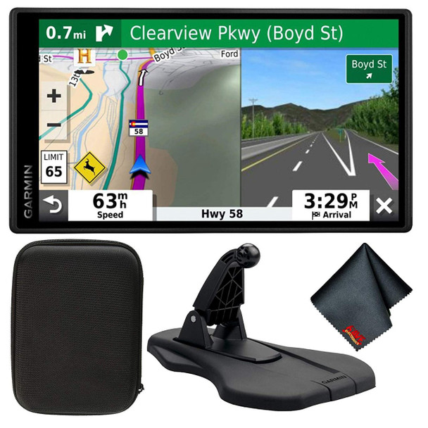 "Garmin DriveSmart 65 & Traffic 6.95"" Display GPS Navigator with Case and Friction Mount"