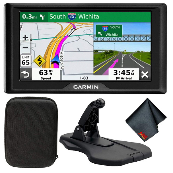 "Garmin Drive 52 5"" GPS Navigator with Traffic Alerts & Friction GPS Dash Mount"