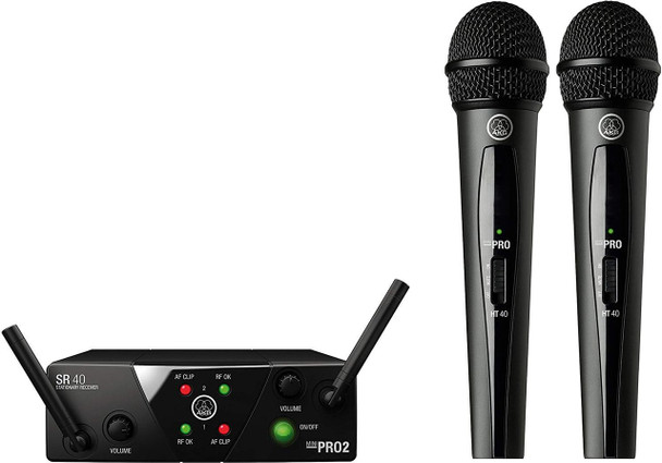 AKG WMS40 Mini2 Vocal Wireless Microphone System US25A/C