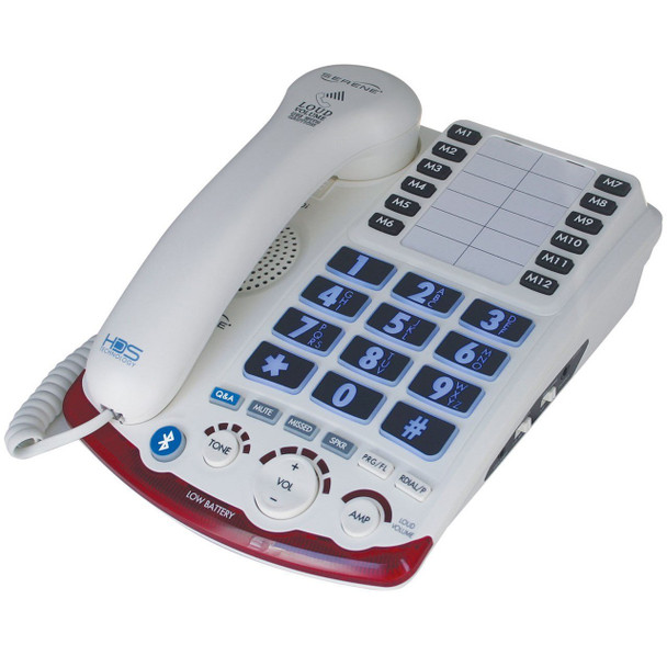 Serene Innovations HD-70 Amplified Corded Telephone Bluetooth Compatible Phone