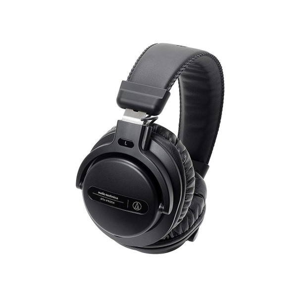 Audio-Technica ATH-PRO5XBK Professional Over-Ear Closed-Back Dynamic DJ Monitor Headphones, Black