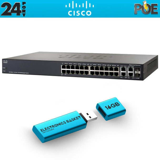 Cisco SF350-24MP 24-Port 10/100 Max PoE Managed Switch - SF350-24MP-K9-NA