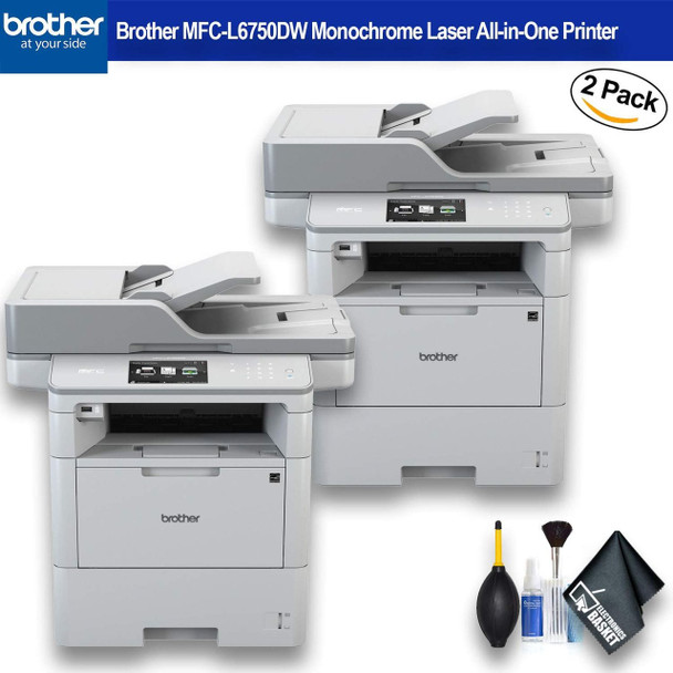 Brother MFC-L6750DW Monochrome Laser All-in-One Printer (MFC-L6750DW) 2 - Pack Bundle