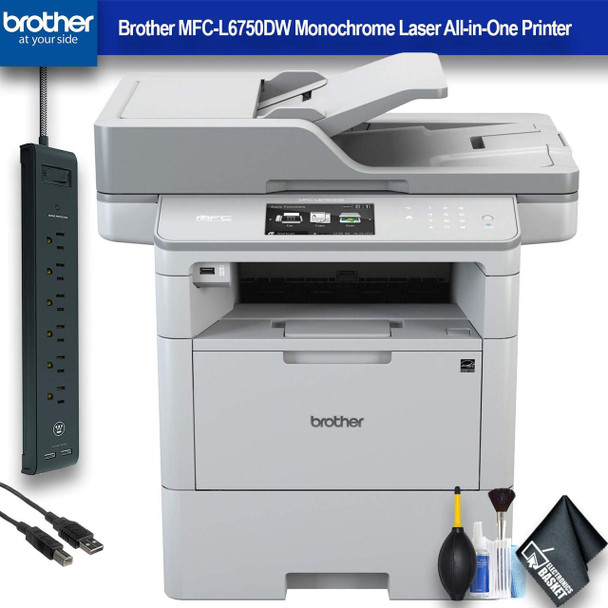 Brother MFC-L6750DW Monochrome Laser All-in-One Printer (MFC-L6750DW) Office Bundle