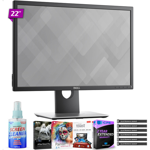 "Dell P2219H 21.5"" 16:9 Ultrathin Bezel IPS Monitor with Photo Essentials Software and Special 2 Year Extended Warranty"