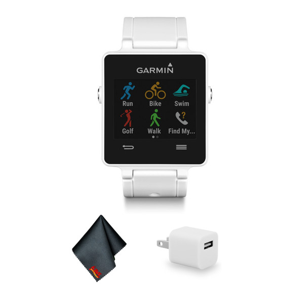 Garmin vivoactive Sport Watch with Heart Rate Monitor - White