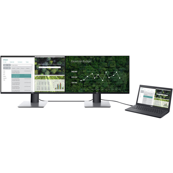 """Dell P2419HC USB-C 23.8"""" 16:9 Ultrathin Bezel IPS Monitor With Privacy Screen Filter"""