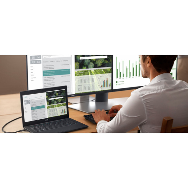 """Dell P2419H 23.8"""" 16:9 Ultrathin Bezel IPS Monitor (No Stand) With Privacy Screen Filter"""