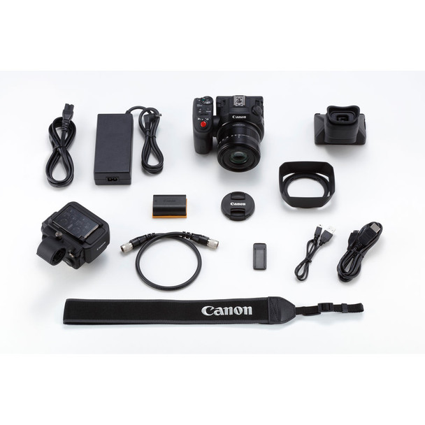 Canon XC15 4K Professional Camcorder (1456C002) W/ 64GB Memory Card, Bag, Extra Battery and Charger, Tripod, Led Light and More