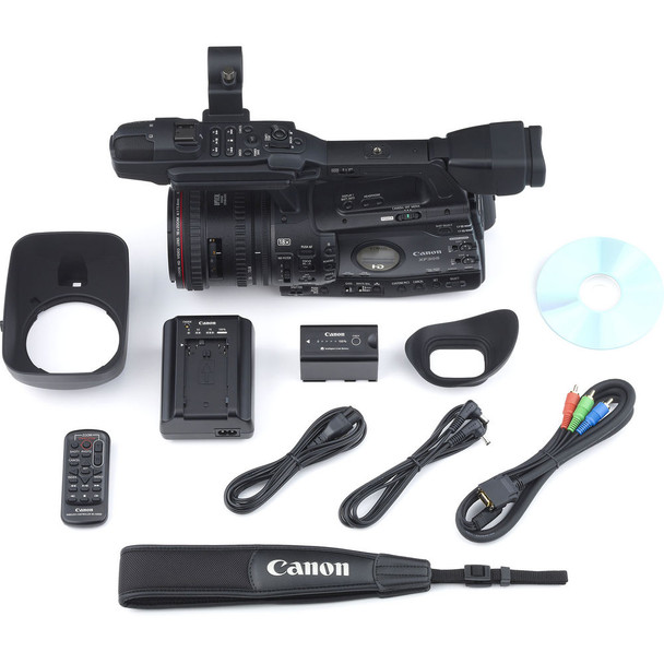Canon XF305 Professional Camcorder (4454B001) W/ 32GB Memory Card, Bag, Extra Battery and Charger, Tripod, Led Light, Sony Headphones, Mic, and External Monitor