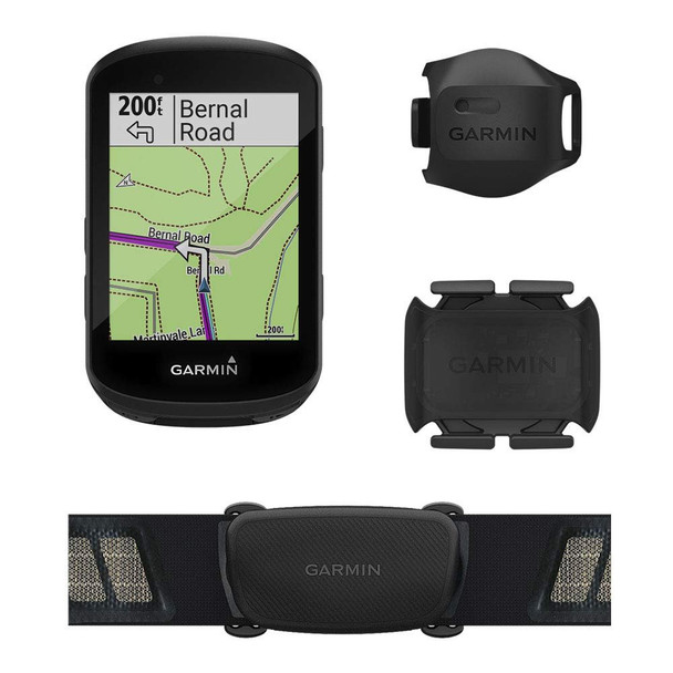 Garmin Edge 530 Sensor Bundle, Performance GPS Cycling/Bike Computer with Mapping, Dynamic Performance Monitoring and Popularity Routing, Includes Speed and Cadence Sensor and HR Monitor