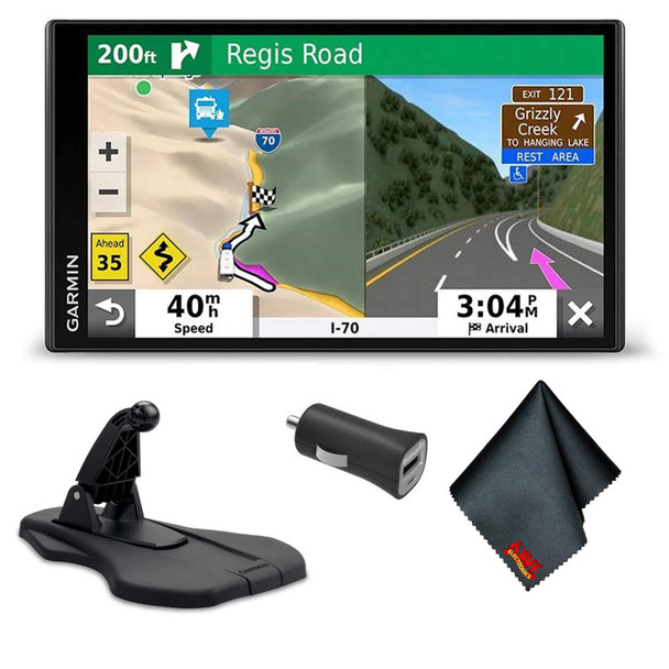 Garmin RV 780 GPS Navigator with Traffic Bundle with Garmin Portable Friction Dashboard Mount + LCD Screen Protectors and More