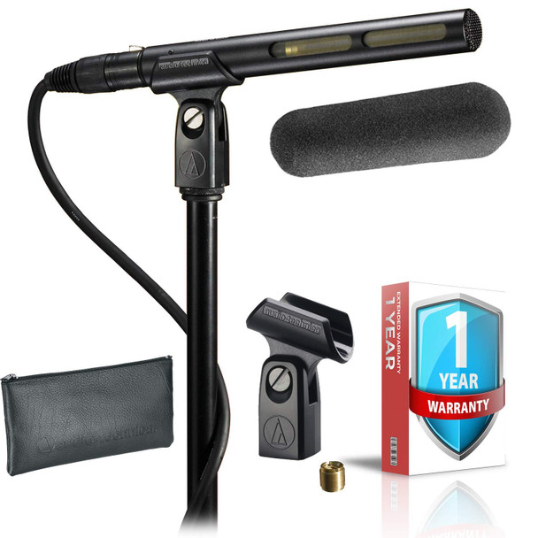 AT875R Line + Gradient Condenser Microphone + Stand Clamp + Windscreen + Protective Pouch with Extended Warranty