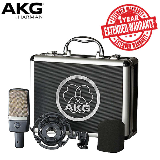 AKG Large-diaphragm Condenser Microphone Includes Shockmount, Carrying Case