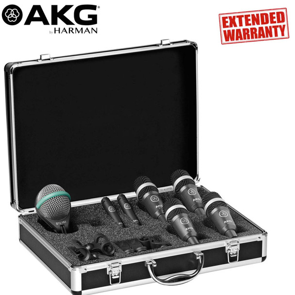 AKG Drum Set Concert 1 Professional Drum Microphone Set - Includes - 1-Year Extended Warranty