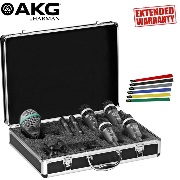 AKG Drum Set Concert 1 Professional Drum Microphone Set - Includes- 1-Year Extended Warranty
