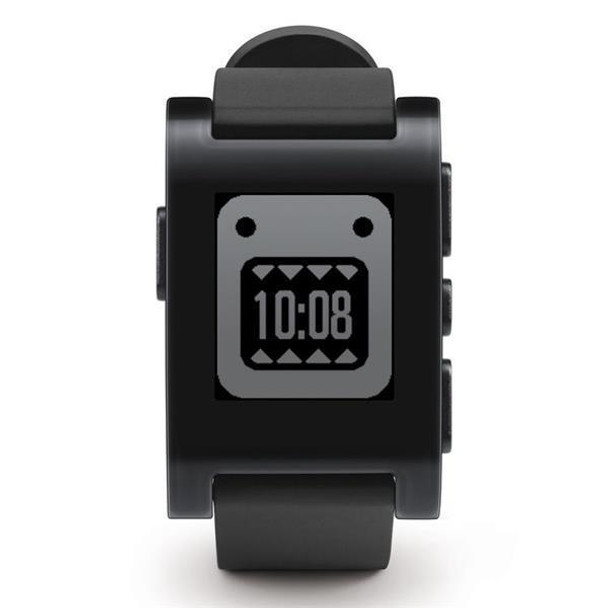 PEBBLE  Smartwatch (Jet Black  TPU Rubber Band) 301BL