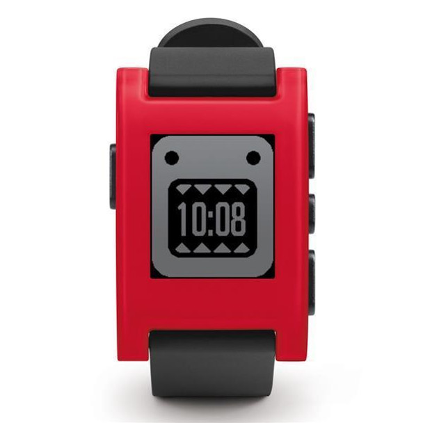 PEBBLE Smartwatch (Cherry Red  TPU Rubber Band)