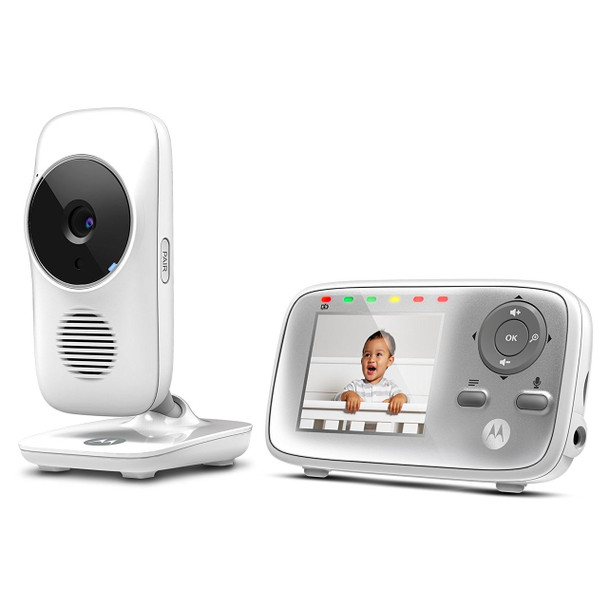Motorola MBP483 2.4 GHz Digital Video Baby Monitor with 2.8-Inch Color Screen  Digital Zoom  Two-Way Audio  and Room Temperature Display