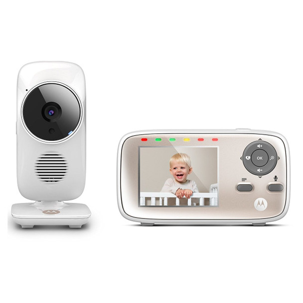 Motorola MBP667Connect Digital Video Baby Monitor with Wi-Fi  2.8-Inch Color Screen  Digital Zoom  Two-Way Audio  Infrared Night Vision  an
