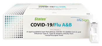 LIFESIGN STATUS 33225 RAPID QUALITATIVE TEST THAT DETECTS SARS-COV-2 AND INFLUENZA TYPE A AND B