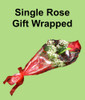 Single Rose Gift Wrapped