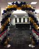 Navy, Gold & White Arch