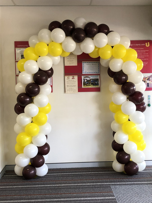 White, Burgundy & Yellow Arch