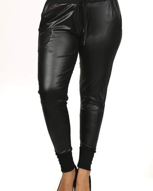 Plus Faux Leather Skinny Ankle Pant