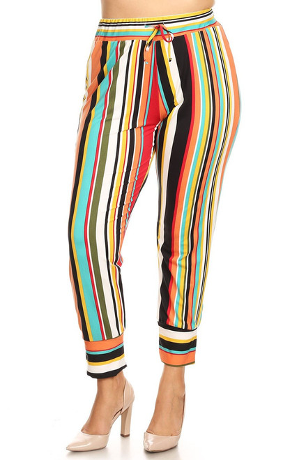 Plus Harlem Stripe Pants