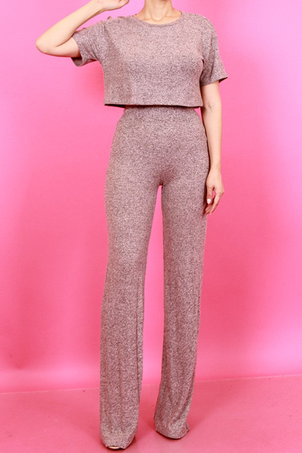 Soft Crop top and Pants set