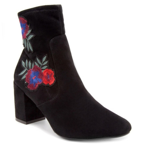 Embroidery Ankle booties