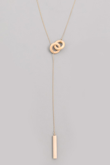 Gold Wooden Loop Chain