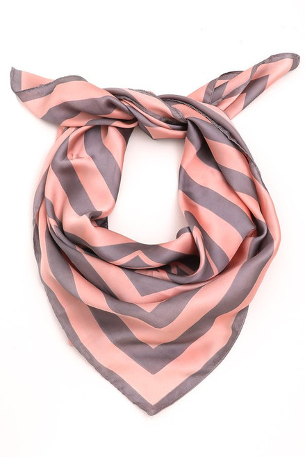 Gray & Pink Silky Scarf