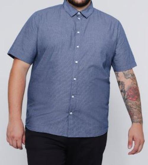 Plus Checked Short Sleeve Shirt
