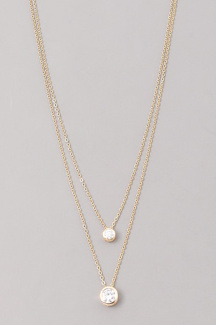 Gold 2 Layer Diamond Necklace