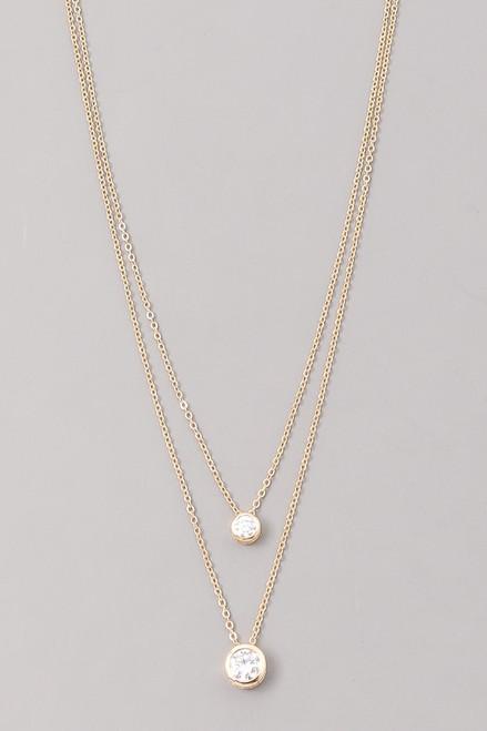 Gold 2 Layer Diamond Necklace