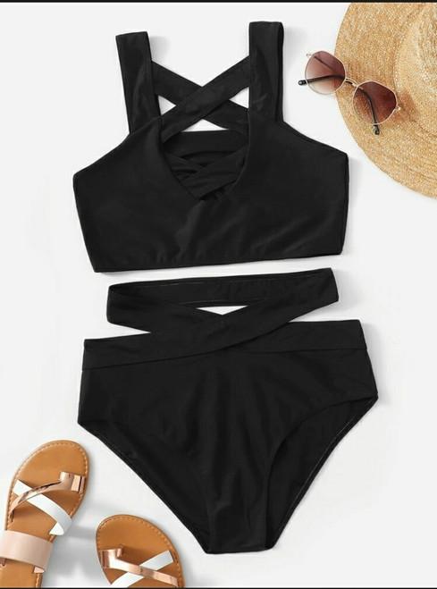 Criss Cross Cutout Bikini