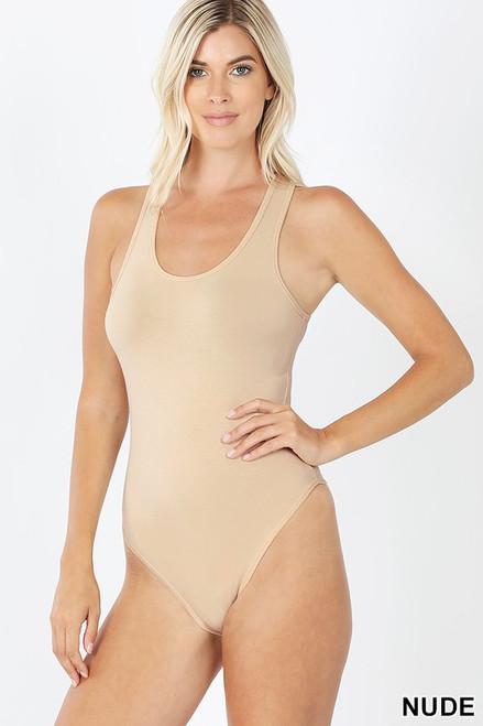 Nude Racerback Bodysuit