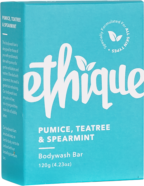 ETHIQUE Solid Bodywash Bar Pumice, Tea Tree & Spearmint