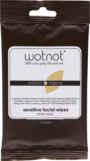 WOTNOT Sensitive Facial Wipes All Skin Types (5 wipes)