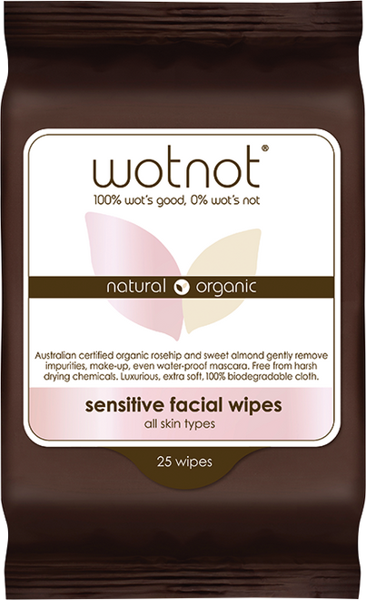 WOTNOT Sensitive Facial Wipes All Skin Types