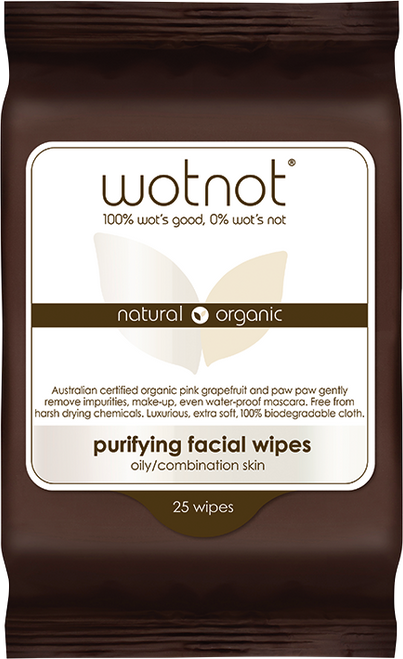 WOTNOT Purifying Facial Wipes Oily/combination Skin