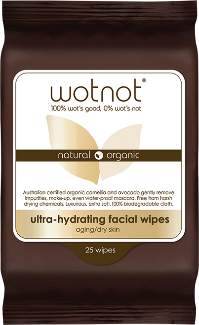 WOTNOT Ultra-hydrating Facial Wipes Aging/dry Skin